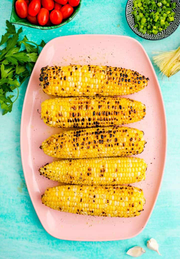 Corn after it has been grilled