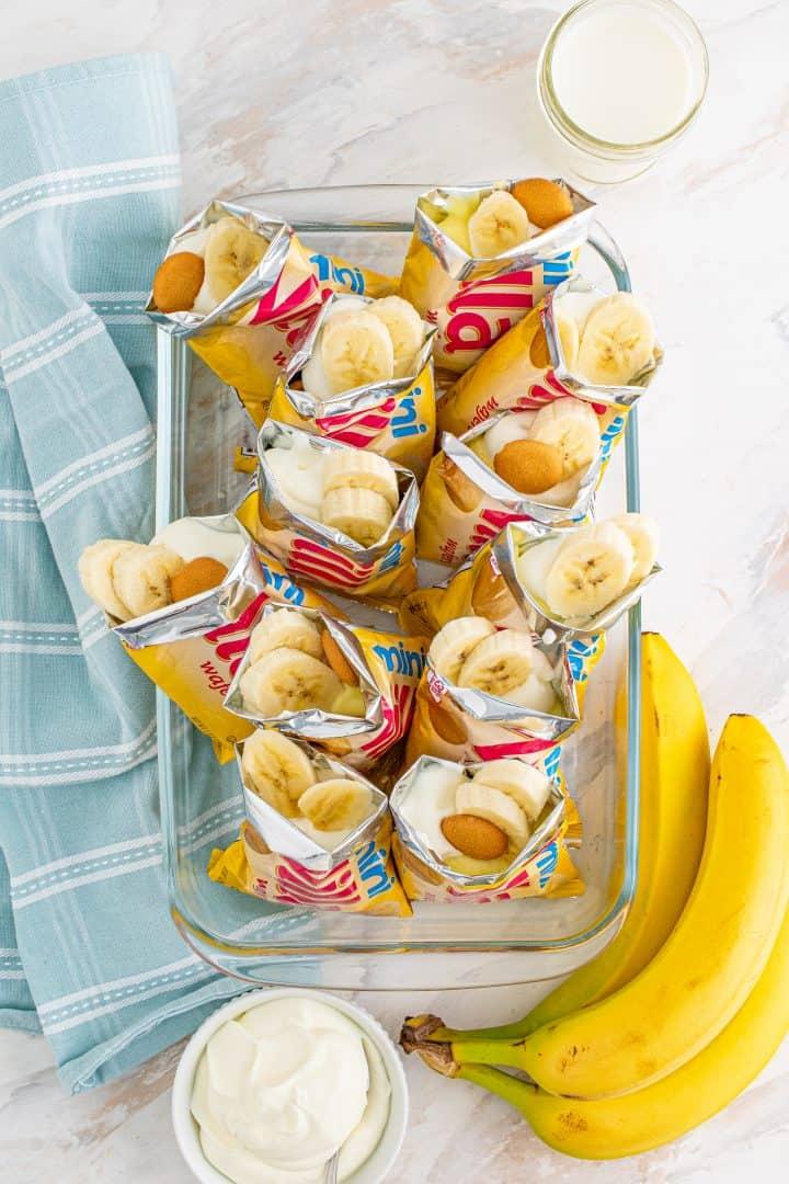 Bananas added to Nilla wafer bags