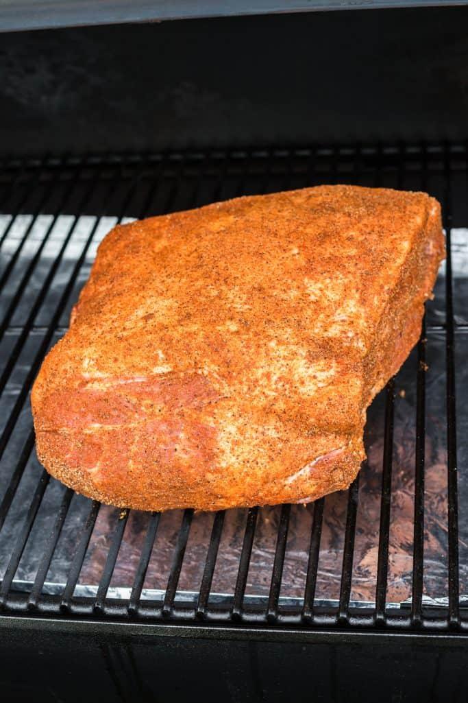Pork Shoulder on smoker