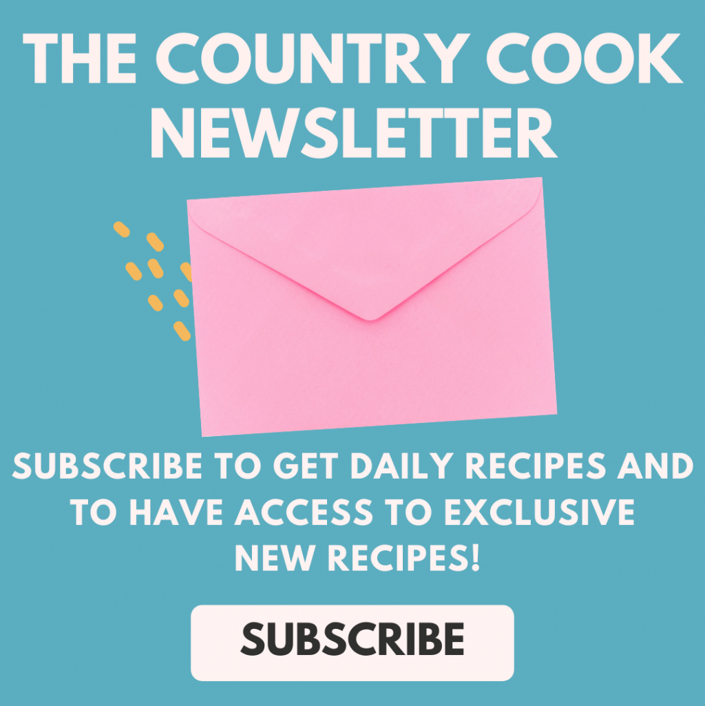 The Country Cook Newsletter Sign Up Button