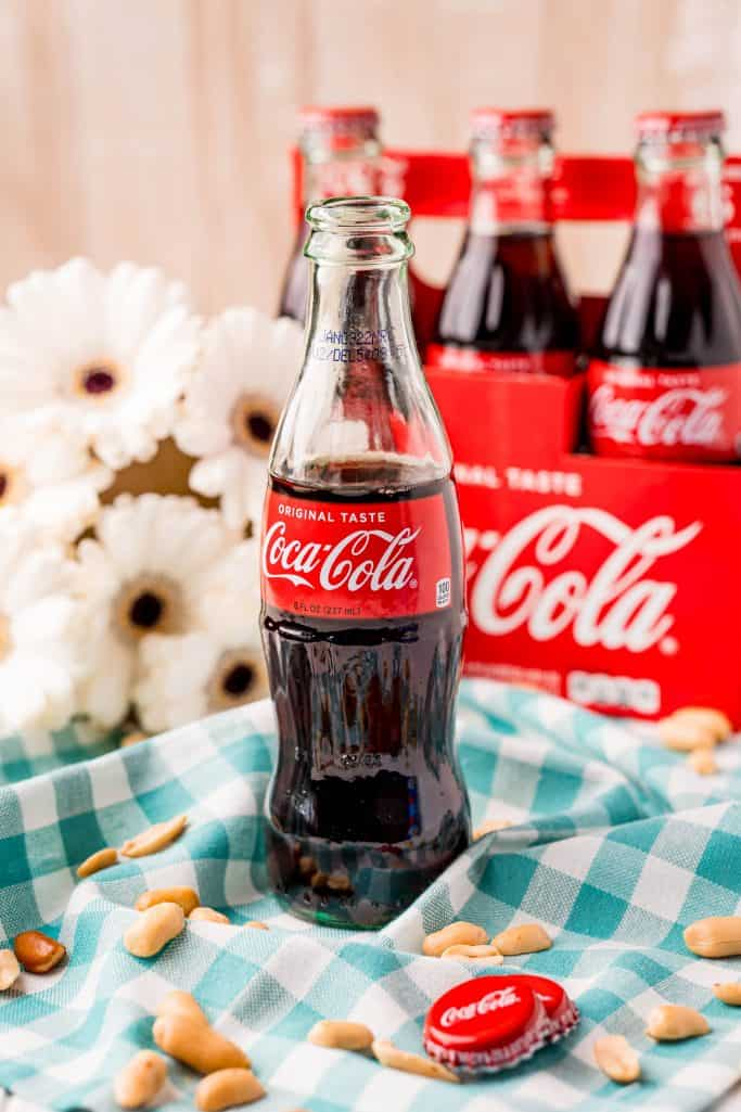 Ingredients needed: coca-cola and peanuts